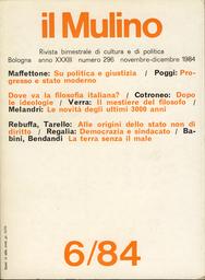 Copertina del fascicolo dell'articolo Su politica e giustizia