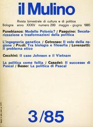 Copertina del fascicolo dell'articolo Pascal politico