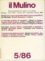 Copertina del fascicolo dell'articolo Partecipazione politica e integrazione comunitaria nella Germania nazista: un'analisi politologica di G.L. Mosse