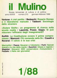 Copertina del fascicolo dell'articolo Il calcio e la sua crisi