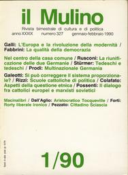 Copertina del fascicolo dell'articolo Aspetti della questione etnica nella società italiana