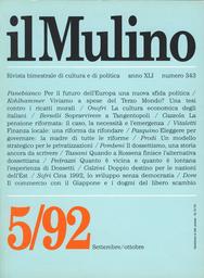 Copertina del fascicolo dell'articolo In bilico fra storia e futuro: l'Europa chiamata alla politica