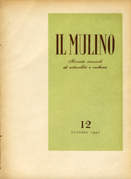 Copertina del fascicolo dell'articolo Le ragioni ideali della politica federalista e atlantica dell'Italia
