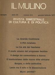 Copertina del fascicolo dell'articolo Sulla più recente produzione della cultura architettonica italiana