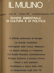 Copertina del fascicolo dell'articolo La fantascienza negli anni '70