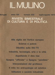 Copertina del fascicolo dell'articolo Crisi delle istituzioni: una prospettiva sociologica sulla situazione presente delle società industriali