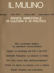 Copertina del fascicolo dell'articolo La questione democristiana