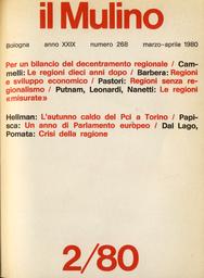 Copertina del fascicolo dell'articolo Le regioni